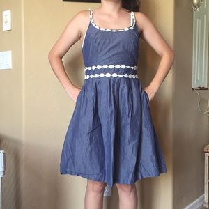 Stylish ModCloth 100% cotton denim dress